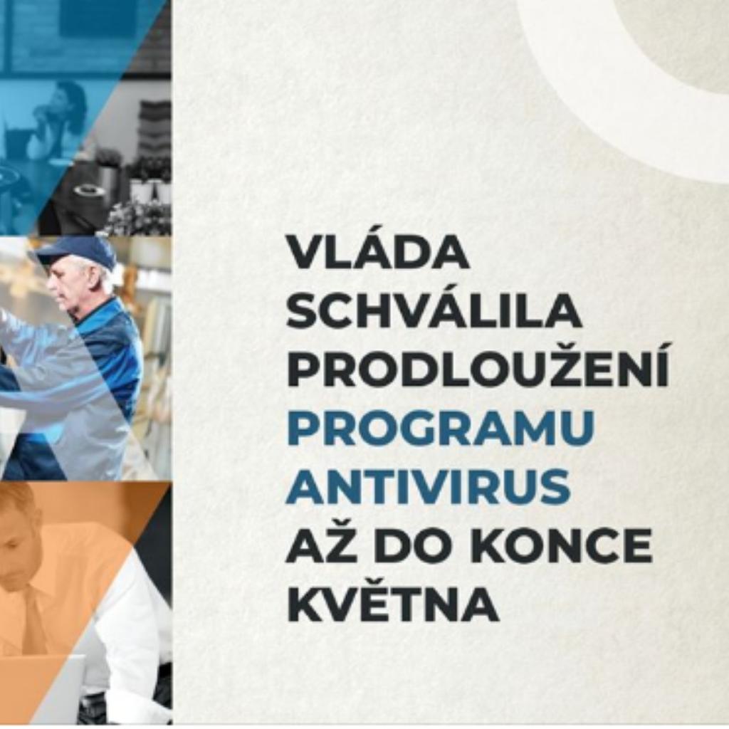 Program Antivirus je prodloužen o jeden měsíc do 31. 5. 2020
